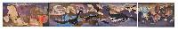 ;La storia della Terra; 1969/70 acrilico su cartone incollato su 4 pannelli dicompensato totale 9.30x1.40 m